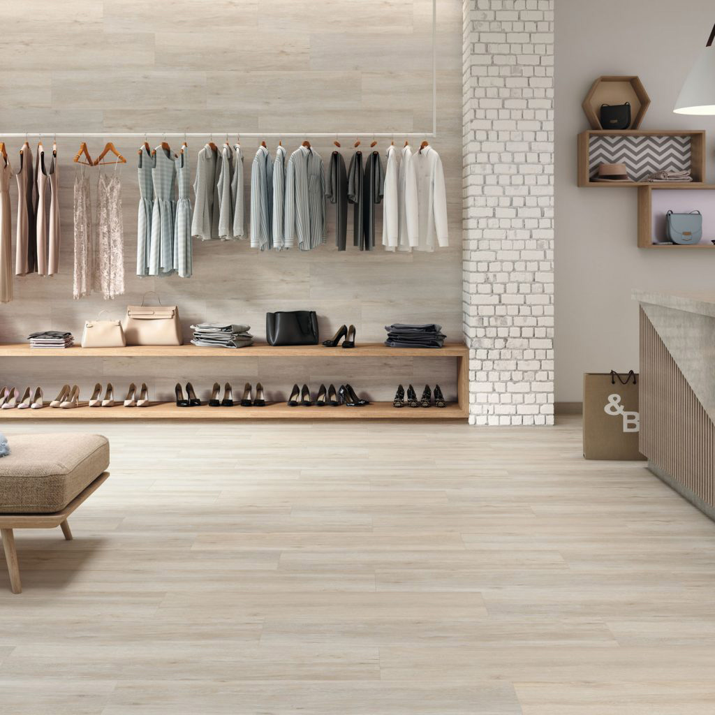 Madera porcelanica rectificada - Mary Natural
