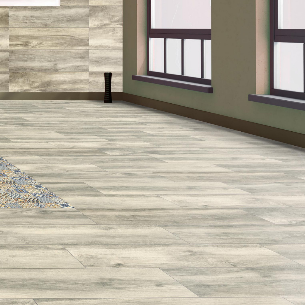 Madera porcelanica sin rectificar - Roble